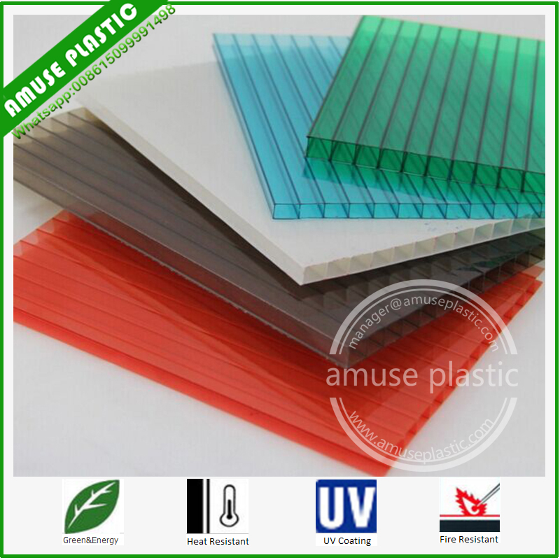 Popular Plastic Decoration Roof Material Polycarbonate Hollow PC Lighting Sheets