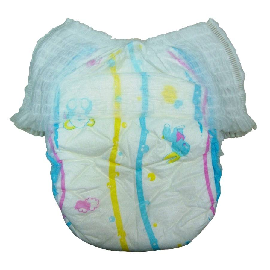 Disposable baby diaper pants