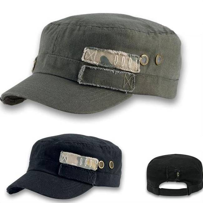 Wholesale Military Caps Cotton Army Green Hats