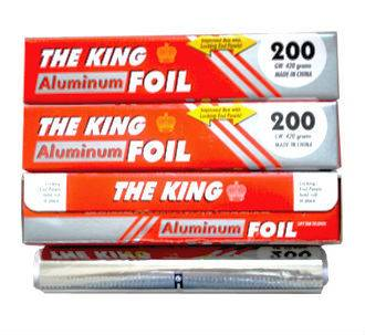 300mm*150m aluminum foil food packing rolls