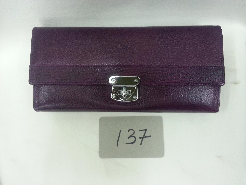 violet color Ladies purse