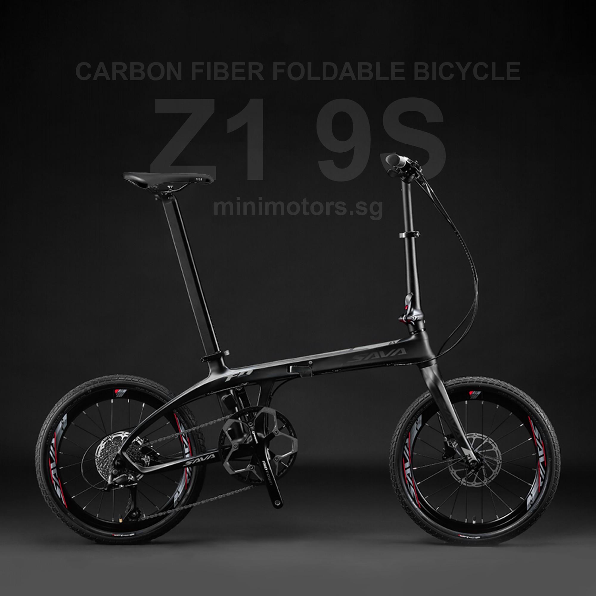 Z1 9S Carbon Fiber Folding Bike   Shimano Sora R3000   Free Shipping & Assemble   5 Years Warranty