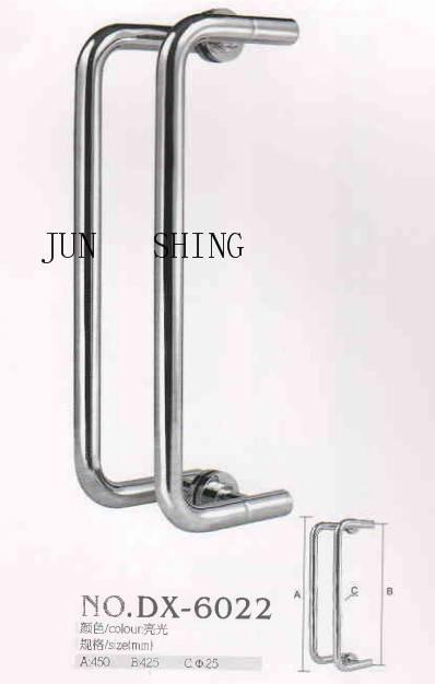Stainless steel glass door pull handle dx-6022