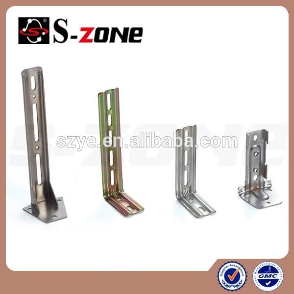 Drapery hardware stainless angle heavy duty curtain rod brackets