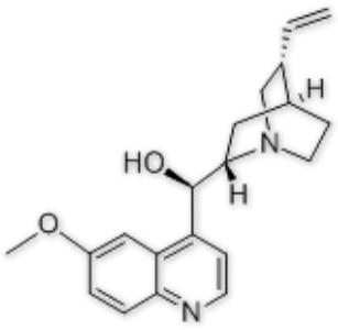 (R)-(6-methoxyquinolin-4-yl)((1S,2S,4S,5R)-5-vinylquinuclidin-2-yl)methanol,