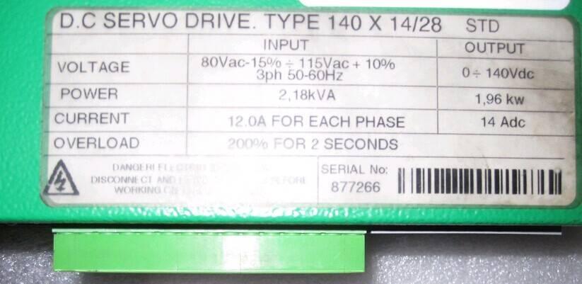 CONTROL TECHNIQUES MIDI MAESTRO DC SERVO DRIVE 140X14/28