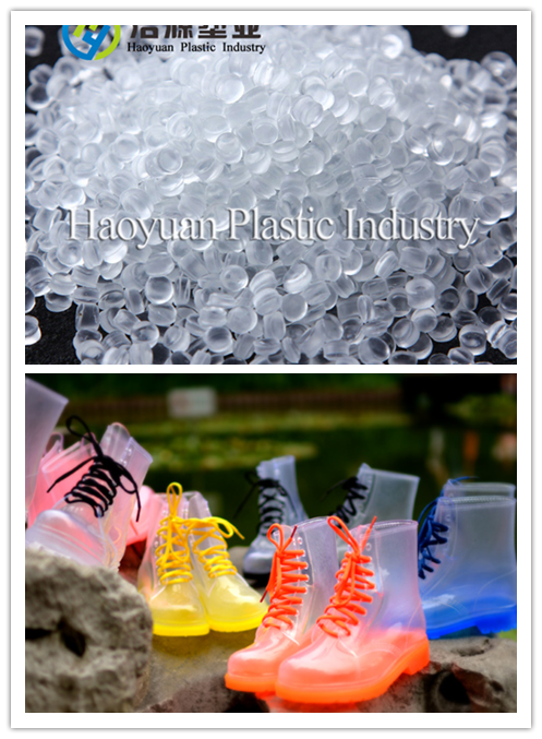 Soft PVC Transparent Granules for Jelly Boots