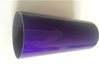 carbon fiber tube, purple painted surface carbon pipes