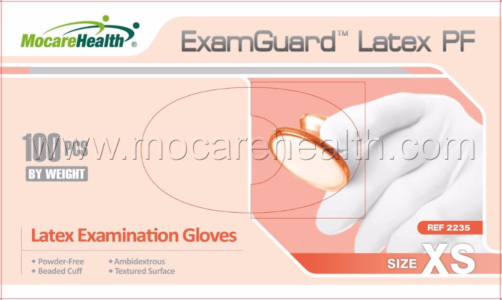 #2235 Powder-Free Non-Sterile Latex Examination Glove