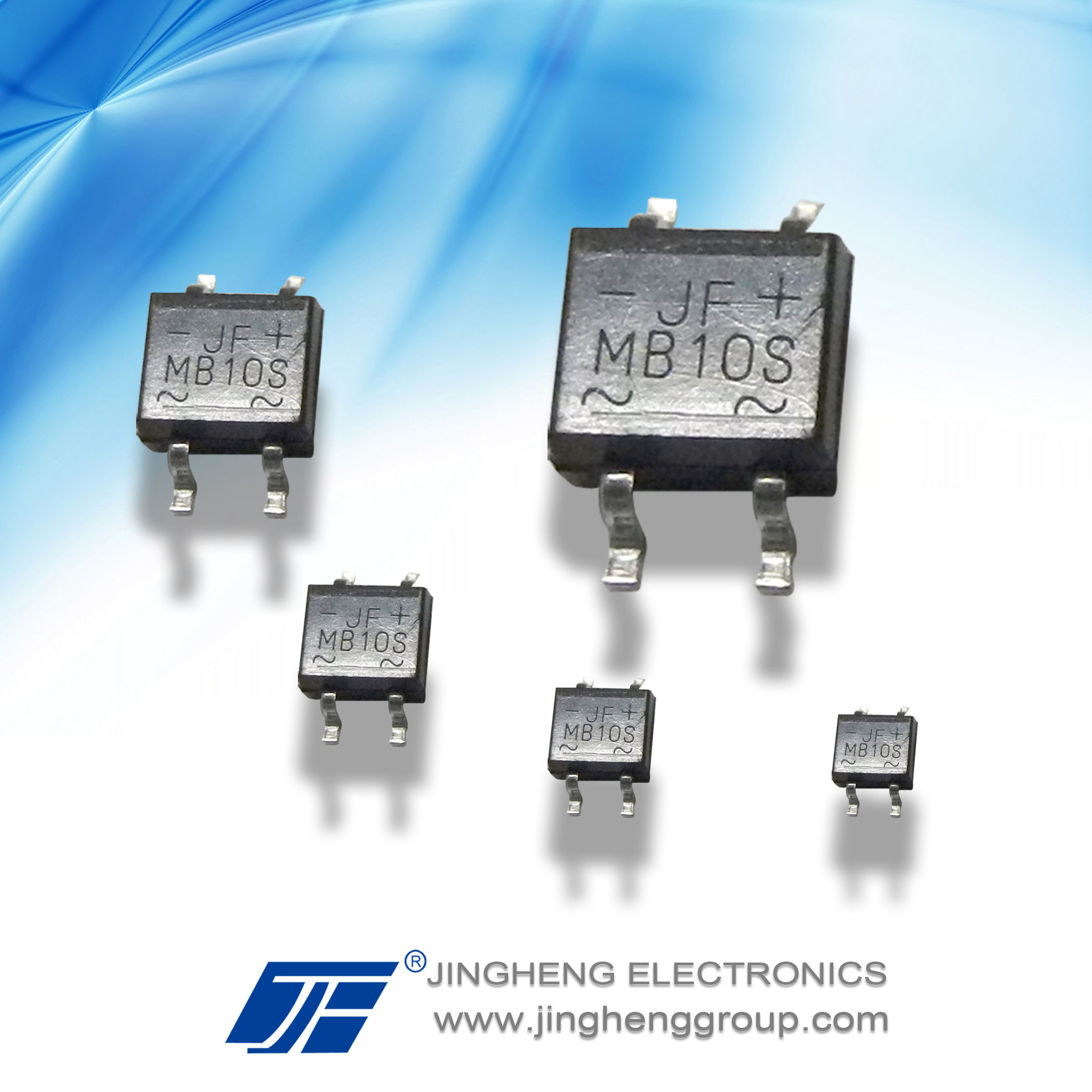1A/1000V bridge rectifier diode MB10S with MBS package