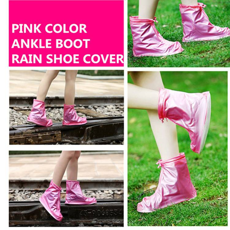 Outdoor Dress Rain Boot Cover with Light PVC Material and Foldable Pocket Size