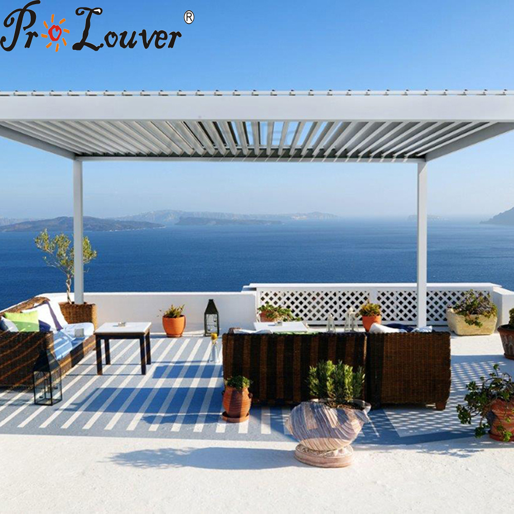 Aluminum roof,remote control automatic roof louver, waterproof pergola