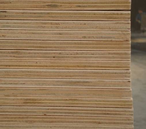 two times press plywood