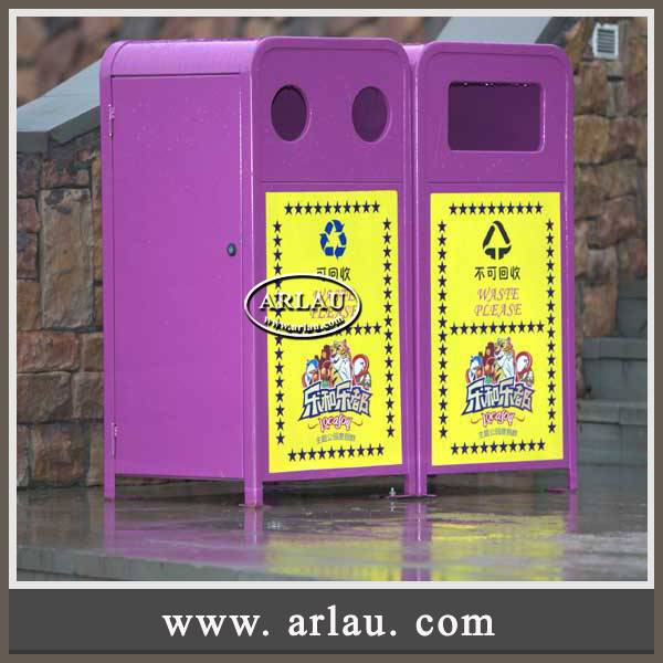 Arlau Patio Furniture Factory Direct Wholesale,Decorative Outdoor Trash Bin,Metal Park Waste Bin