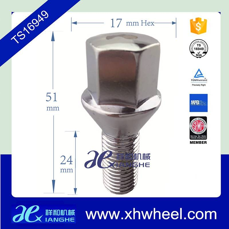 12mm*1.25 10.9 Grade Chrome lug bolts