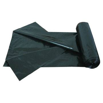 LDPE Black Heavy Duty C Fold Roll pack Plastic Garbage Bag/Trash bag/Rubbish bag/Refused sack