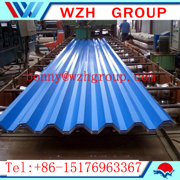 color coated roofing sheet/corrugated sheet and ppgi sheet price wzh group