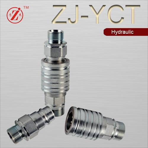 ISO 5675 steel push pull hydraulic quick disconnect coupling