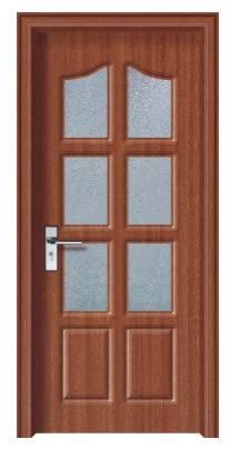 2015 Lastest design pvc wooden fiber bathroom door