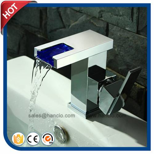 Waterfall Automatic Cold and Hot Faucet with LED (HC16556)