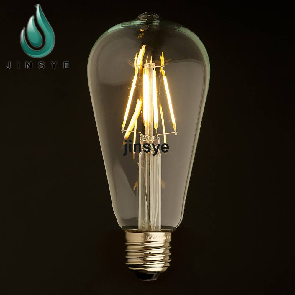 B22 ST64 lamp light 2200k led bulb