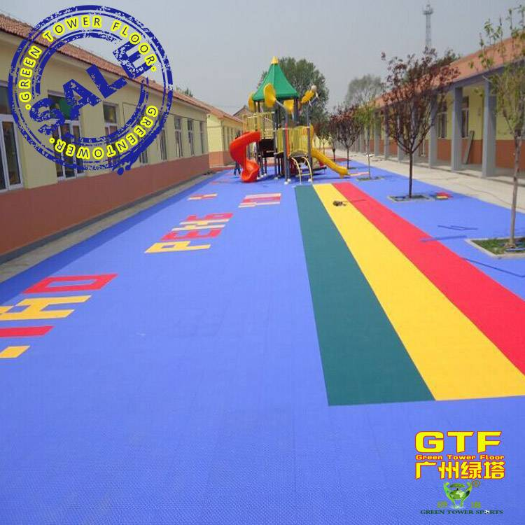 Colorful Sports Tiles Interlocking Flooring for Playground