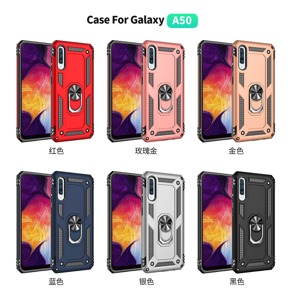 2019 New Products PC+TPU Shockproof Phone Case for Samsung Galaxy A50 A70 Case With Ring Kickstand