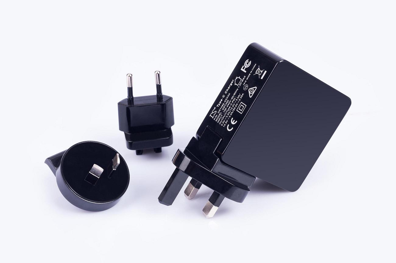 45w type C power adapter with global approves