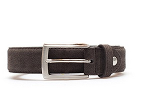 italy suede volume belt brown