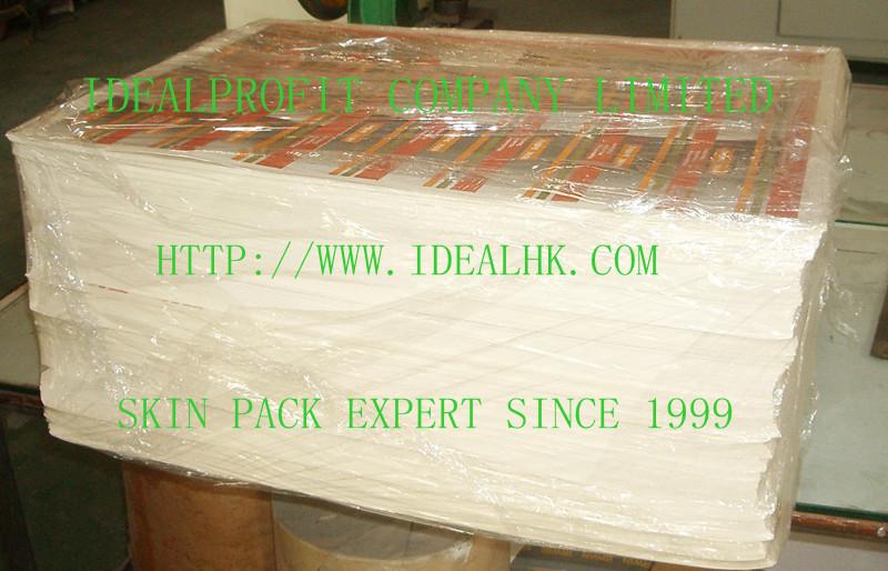 Skin packaging cardboard Porous cardboard