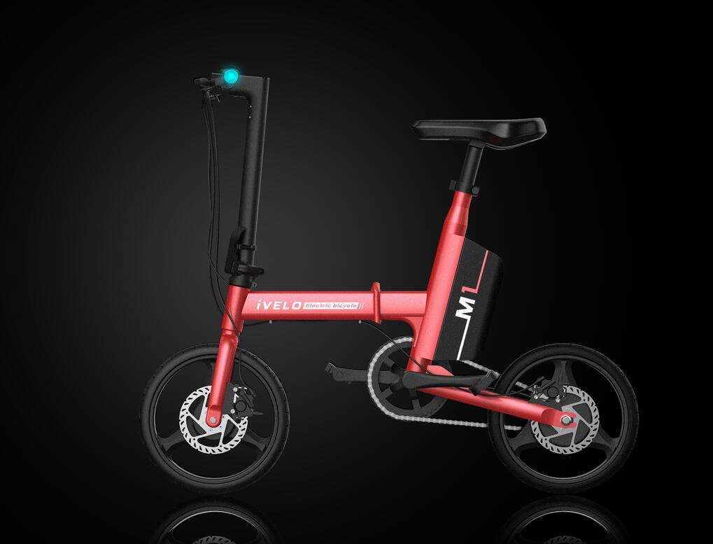 Ivelo Electric Folding Bike Small Electric Car With pedal,Electricity or Assistance