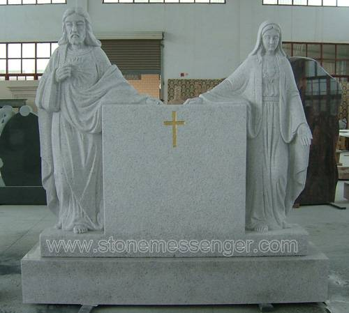 Offer White Granite Jusus And Mary Carving Headstone Monuments
