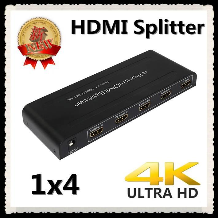 HDMI Splitter 1X4 splitter box 1 in 4 out support Full 3D 4Kx2K HDMI1.4 HDCP1.3