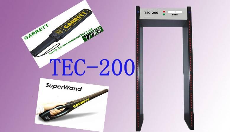 Economical 6 Detect Zones Walk Through Gate Body Scanner TEC-200