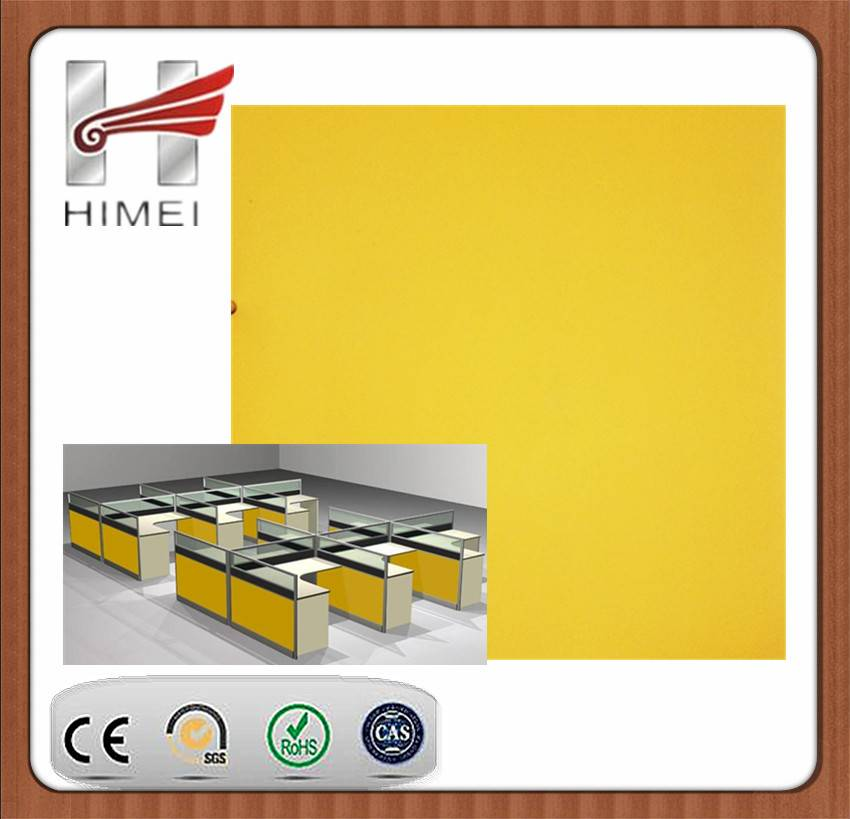VCM/PVC laminated sheet for office partition