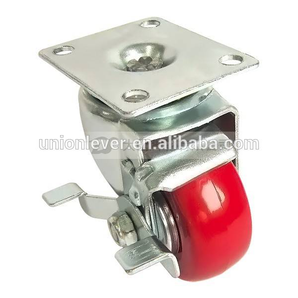 1025 Plate type (double track) brake caster series