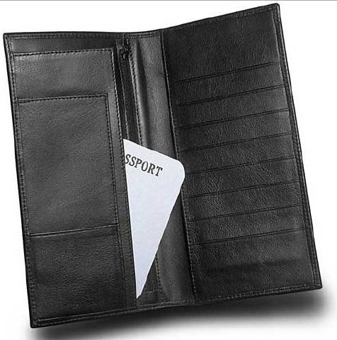 genuine leather card holder pu wallet leather passport holder
