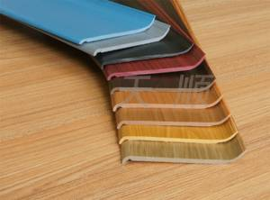 Wood Grain Color PVC Foam Skirting Board