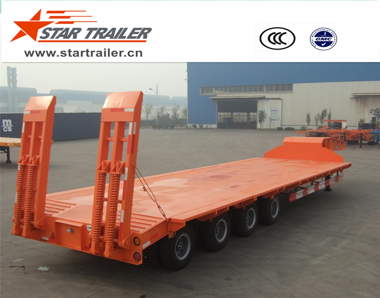 4 Axles Construction Low Bed Semi-trailer