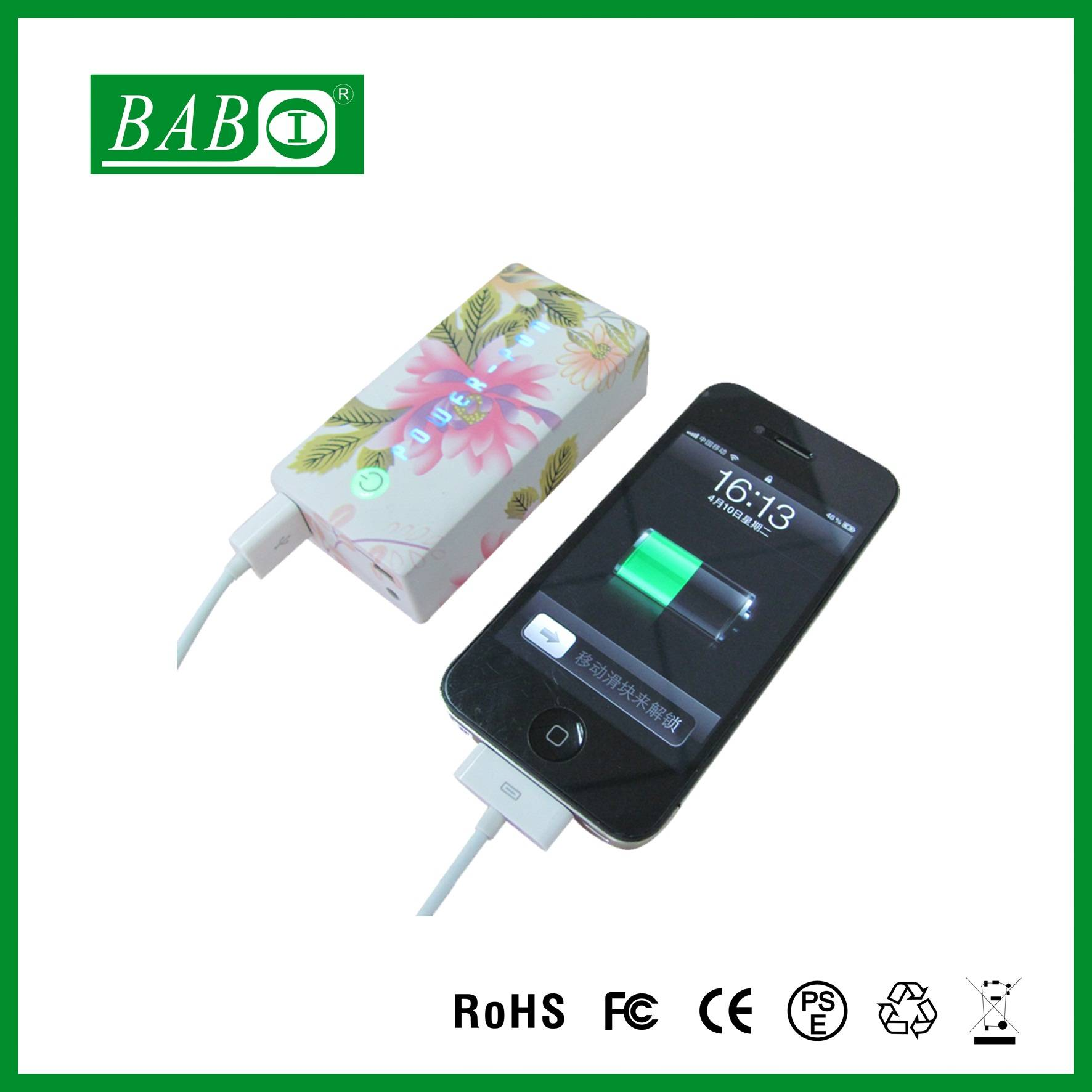Hot selling Factory price Double USB output portable power bank 5800mah for smartphone