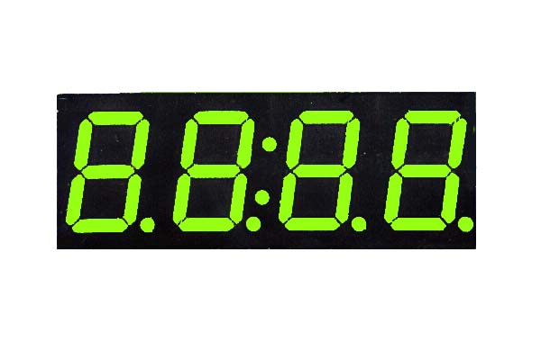 0.8 inch 4 digit green led display