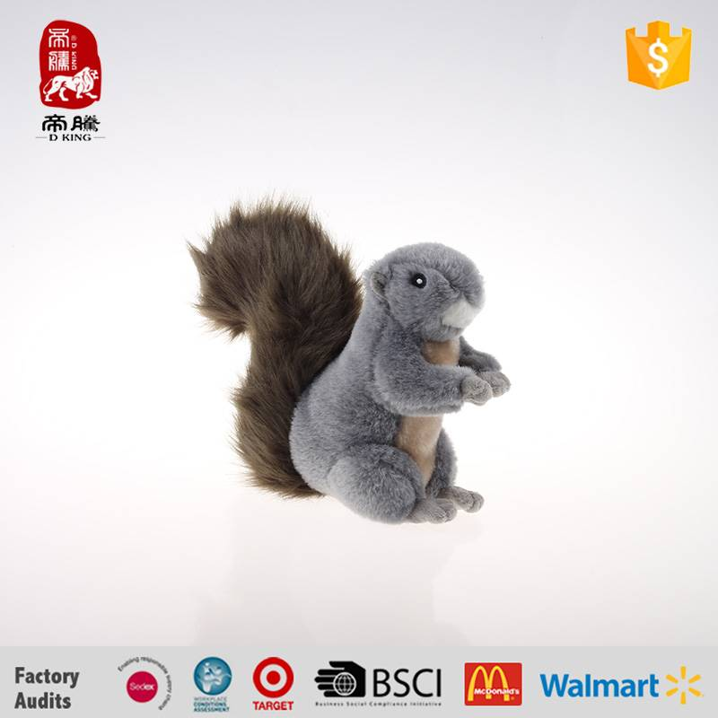 China manufacture gray plush squirrel wholesale