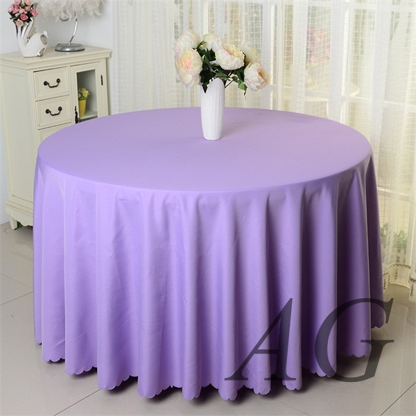 Plain dyed pure color polyester solid color wedding round table cloth