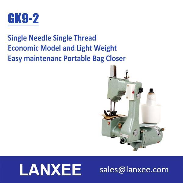 Lanxee GK9-2 single needle economic portable bag closer