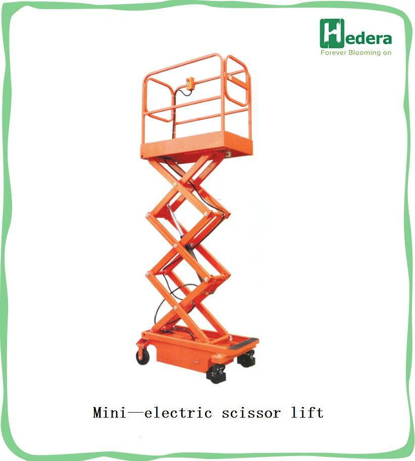 240kg hydraulic fork lifter mini electric scissor lift platform