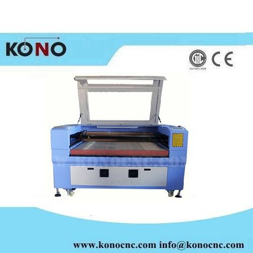 150W CO2 laser cutting machine for textile 15mm cutting