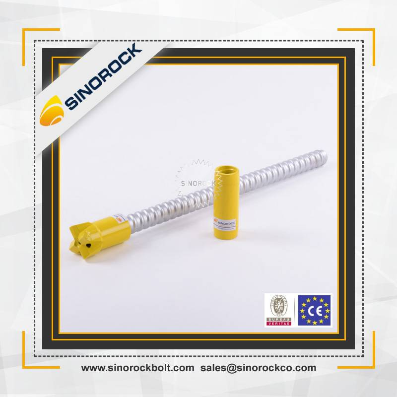 SINOROCK hollow grouting steel self drilling anchor bolt