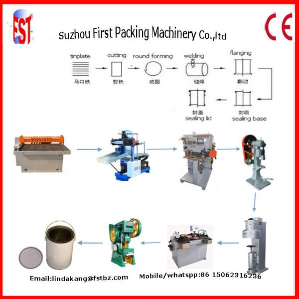 1-5l Round Metal Tin Can Making Machine