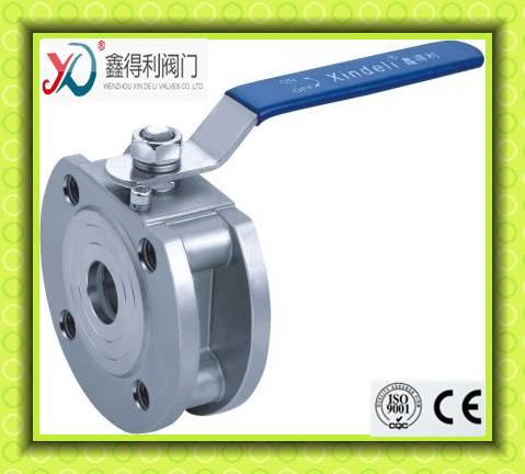 Q71F wafer type flanged ball valve