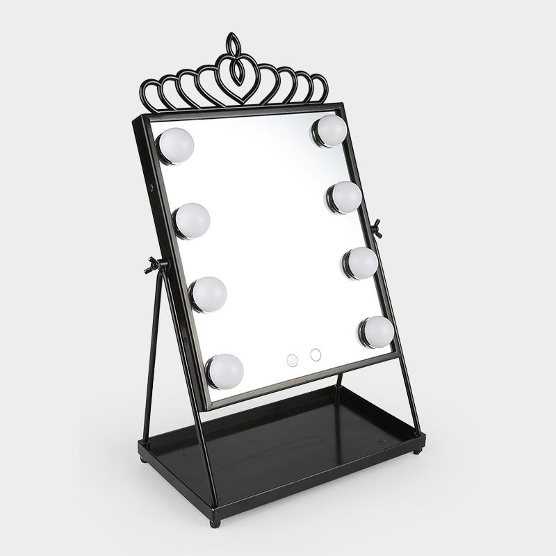 LED Makeup Mirror Two Light Color Mode USB Powered Rotatable Desktop Mirror